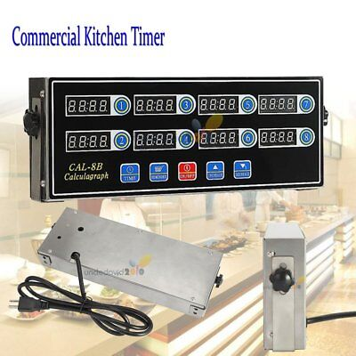 8 Channel Digital Timer Calculagraph Kitchen Timer Burger Basket Shaking Timing