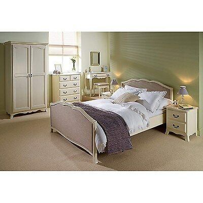 LPD Chantilly Bed Frame in Antique White - double FOL077892