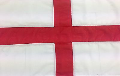 St George sewn flag - Quality heavy duty outdoor flag-rope and toggle 1-4 yd