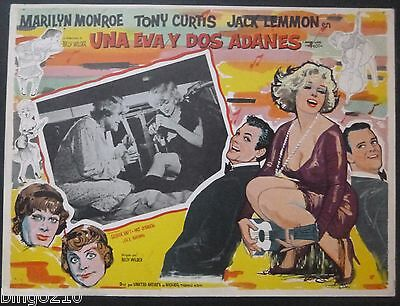 Some Like It Hot Original  Mexican Lobby Card Marilyn Monroe Jack Lemmon