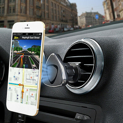 Universal 360° Car Magnetic Air Vent Mount Holder Stand For Mobile Phone Tab GPS