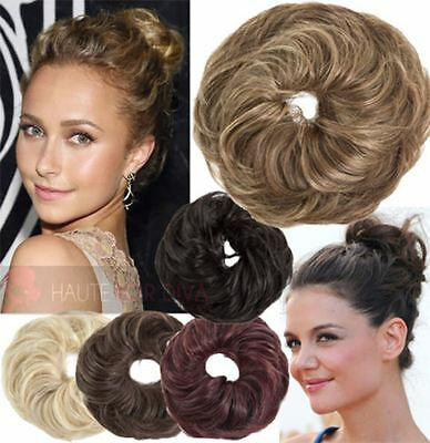 New Ladies Large Wavy Hair Scrunchie Wrap Around Koko Uk Wavy Up Style 37385
