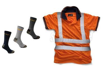 Standsafe Reflektierende Sicherheit Hi Vis Arbeits Polo T - Shirt,Orange