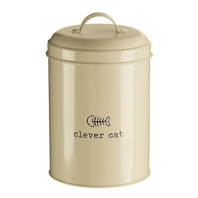 Clever Cat 1.2 Litre Dry Animal Pet Meal Food Storage Bin Canister Container New