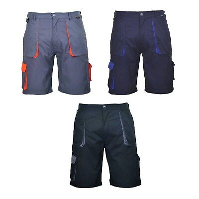 Portwest TX14 Texo Contrast Mens Work Wear Shorts Cargo Combat with Pockets