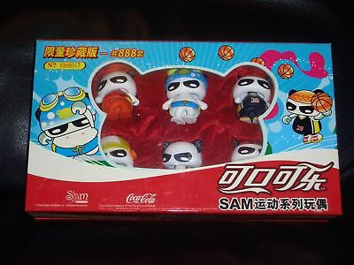 2008 China Coca Sam panda figures set with box