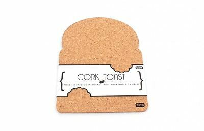 Toast It! Corkboard Natural Cork Bread Shaped Notice Message Board Photo Display