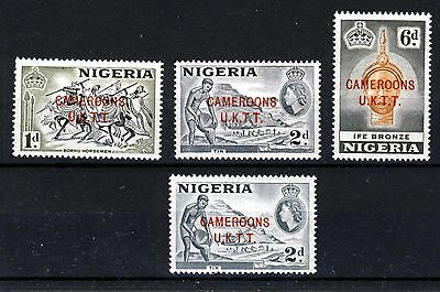 CAMEROONS TRUST TERRITORY 1960 Overprints on NIGERIA SG T2, T4, T4a & SG T7 MNH