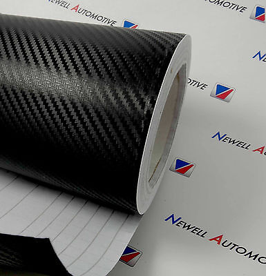 3D Carbon Fibre Vinyl Wrap Film Sticker Multiple Sizes Available 300mm x 1250mm