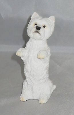 "West Highland White Terrier Figurine Sitting Up Westie Dog Pets 4.25"" High New"