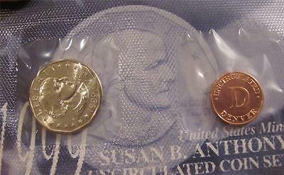 1999-D GEM UNC Susan B Anthony from Mint Set