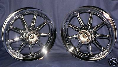 """Harley Chrome 9 Spoke Touring Wheels Electra Glide FLH """"Voted Best BUY&Feed BACK"""