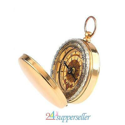 Watch Style Classic Brass Pocket Camping Hiking Compass Outdoor Navigation UK