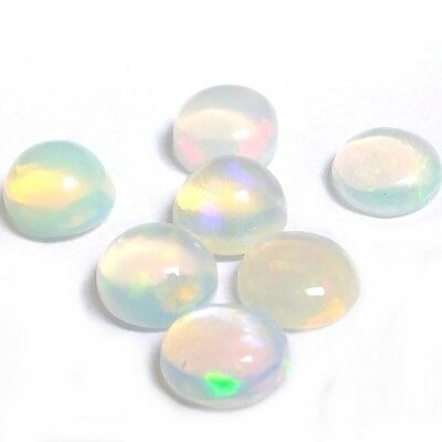 NATURAL AWESOME IRIDESCENT OPAL LOOSE GEMSTONES (5.0 mm) ROUND CABOCHON-CUT