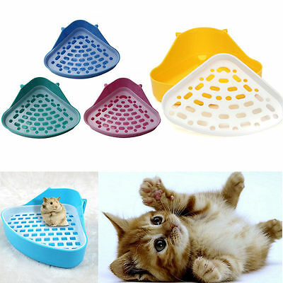 Corner Toilet Litter Pee Tray For Animal Cat Kitten Rabbit Hamster Guinea Pig