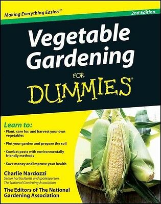 Vegetable Gardening For Dummies by Charlie Nardozzi Paperback Book (English)