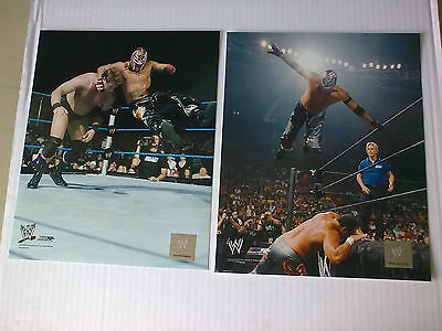 WWF WWE X2 REY MYSTERIO official unsigned HOLOGRAMED WWE photos