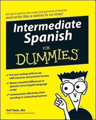 Intermediate Spanish for Dummies by Gail Stein Paperback Book (English)