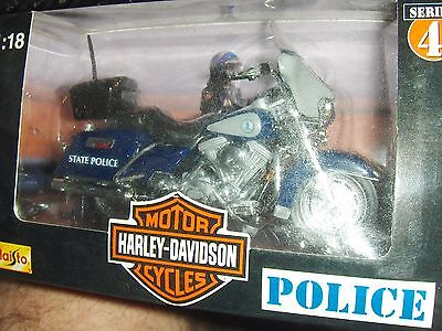 Toy Maisto 1:18 Harley Virginia State Police Motorcycle series 4 Diecast
