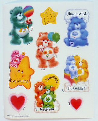 Care Bears American Greetings 6 X 5 Inch 15 Cm Sticker Sheet 1984