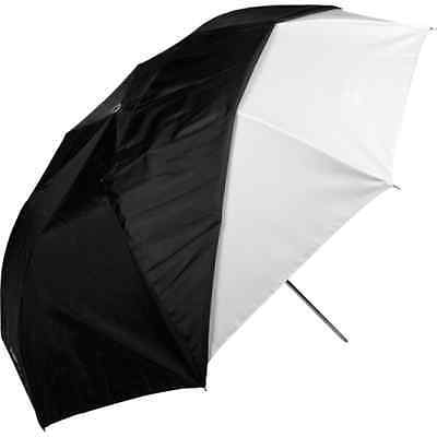 "Westcott 43"" White Satin Collapsible Umbrella & Removable Black Cover - 2011"