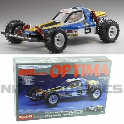 Kyosho 30617B 1/10 Scale Optima 4WD Off Road Racer Buggy Kit w/ Clear Body