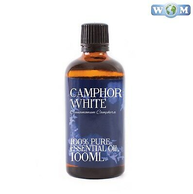Camphor Essential Oil 100ml 100% Pure (EO100CAMPWHIT)