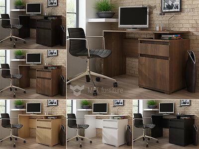 Modern  Computer Office Desk Table Workstation with Cupboard & Drawer