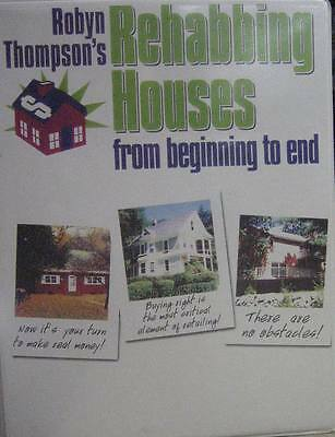 """Robyn Thompson """"Rehabbing Houses-from Beginning to End"""" 4 VHS Video Tapes"""