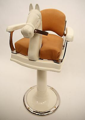 Vintage Koken Child's Barber Chair w Porcelain Horsehead -Restored