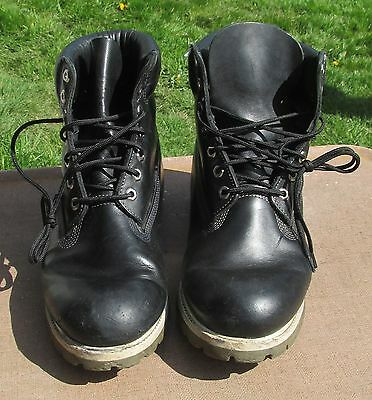 buy popular b8101 debbd Mens Timberland Black Leather Work   Hiking Boots Size.11M  27023 ~ Made in