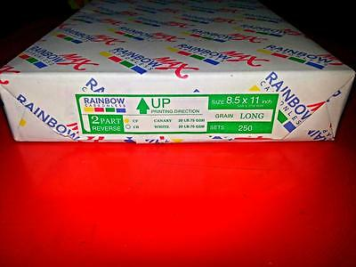 NEW 2 PART CARBONLESS NCR PAPER 3 REAMs / 1500 SHEETS / 750 SETS