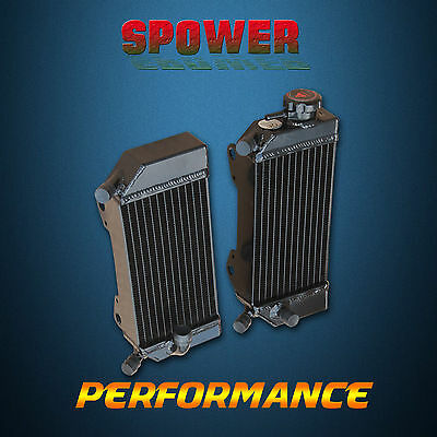 Black Aluminum Radiator For HONDA CRF250R CRF250X 2004 2005 2006 2007 2008 2009