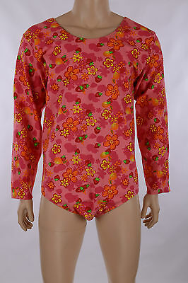 Mens XXL, Watermelon Fruit Pattern LS Leotard, Dance Gym Gymnastics Jazz Skating