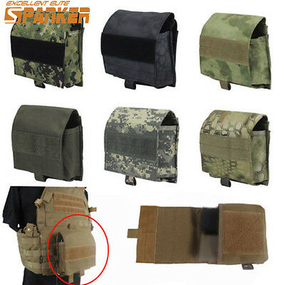 Tactical Molle Admin Magazine Storage Pouch Bag 1000D Cordura Airsoft Hunting