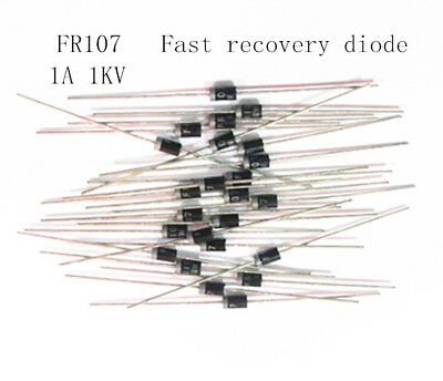 200PCS Fast Recovery Diode 1000V 1A FR107 DO-41