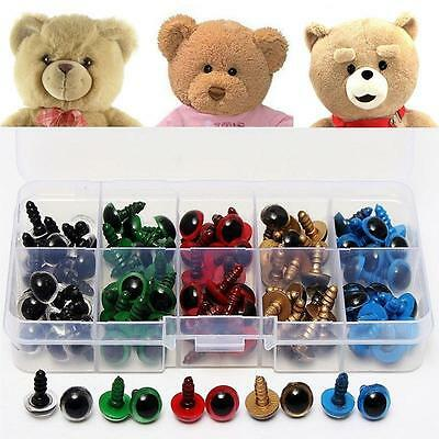 100pcs-5 Mixed Color 10mm Plastic Safety Eyes Washers for Toy Teddy Bear Doll