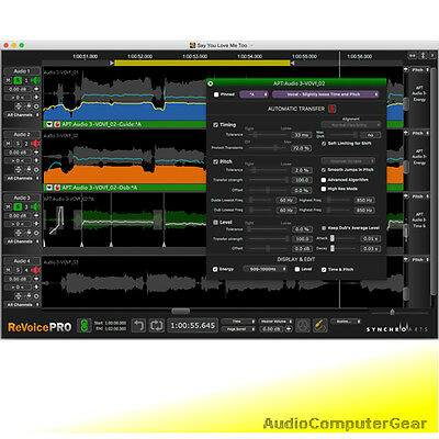 Synchro Arts REVOICE PRO 4.1 (latest) Pitch Time Correction Audio Software NEW