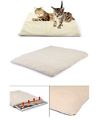 Large Self Heating Thermal Cat Dog Puppy Animal Pet Warm Washable Rug Bed
