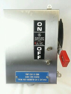 GE Stainless THN3361SS 30 amp 600 volt Safety Disconnect Switch Non Fused