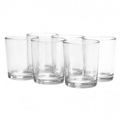 Beautiful Clear Glass Tea Light Votive Candle Holders Wedding Table Party Gift H