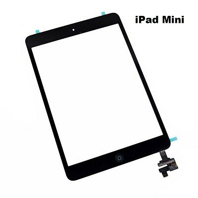 For iPad Mini 1/2 Touch Screen Digitizer Glass Black with IC Chip + Home Button