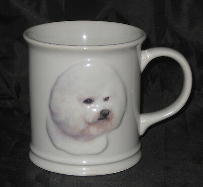 BICHON FRISE Coffee Cup Mug Embossed Raised Design White Dog