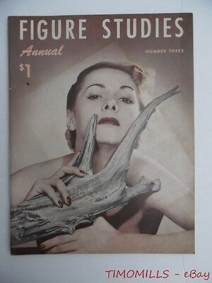 c.1954 FIGURE STUDIES ANNUAL No. 3 Girly Pinup Nude Photography Magazine Vintage