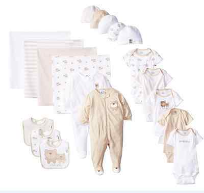 Gerber Baby Girls Boys Onesies 19 Pc. Newborn Infant Toddler Clothing 0-3 Months