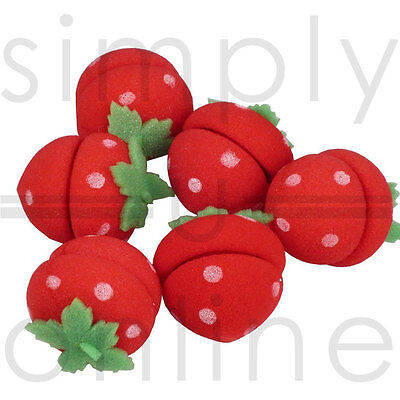 Cute Magic Soft Sponge Hair Rollers Curlers - Strawberry Design