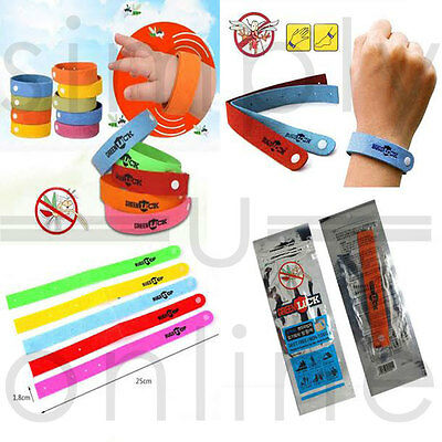 Anti Mosquito Bug Repellent Wrist Band Bracelet Insect Bug Lock Camping Mozzie