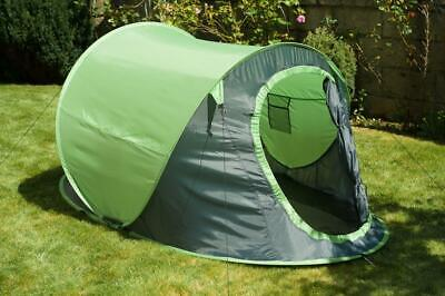 New Green 2 Man Person Pop Up Tent Camping Hiking Festival Beach Holiday Fishing