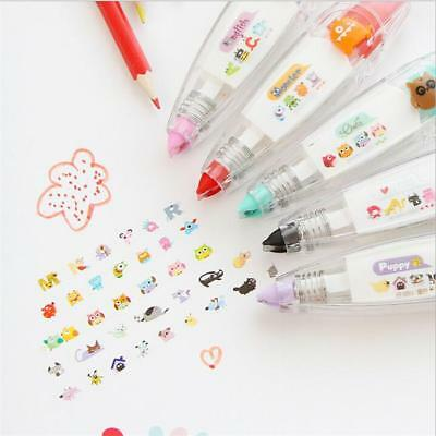 New Cute Cartoon School Office Stationery Decoration Rush Tape Pen Deco DIY Gift