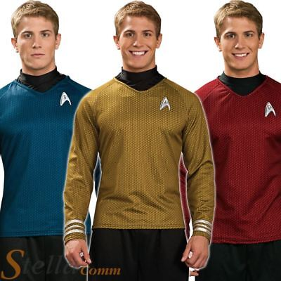 Adult Mens Star Trek Shirts Official Scotty Kirk Spock Fancy Dress Costume